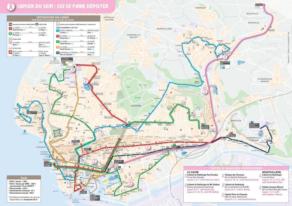 Plan du réseau LiA Octobre rose