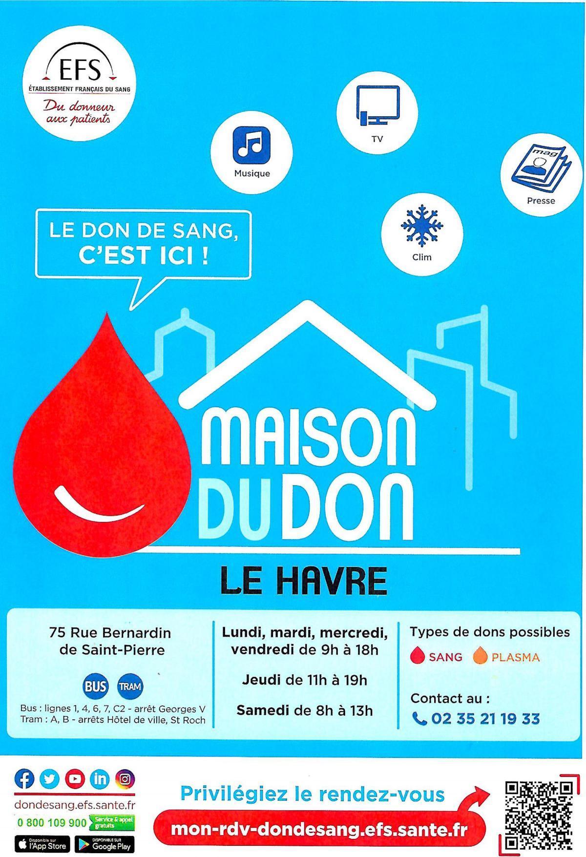 Maison du don de sang Le Havre