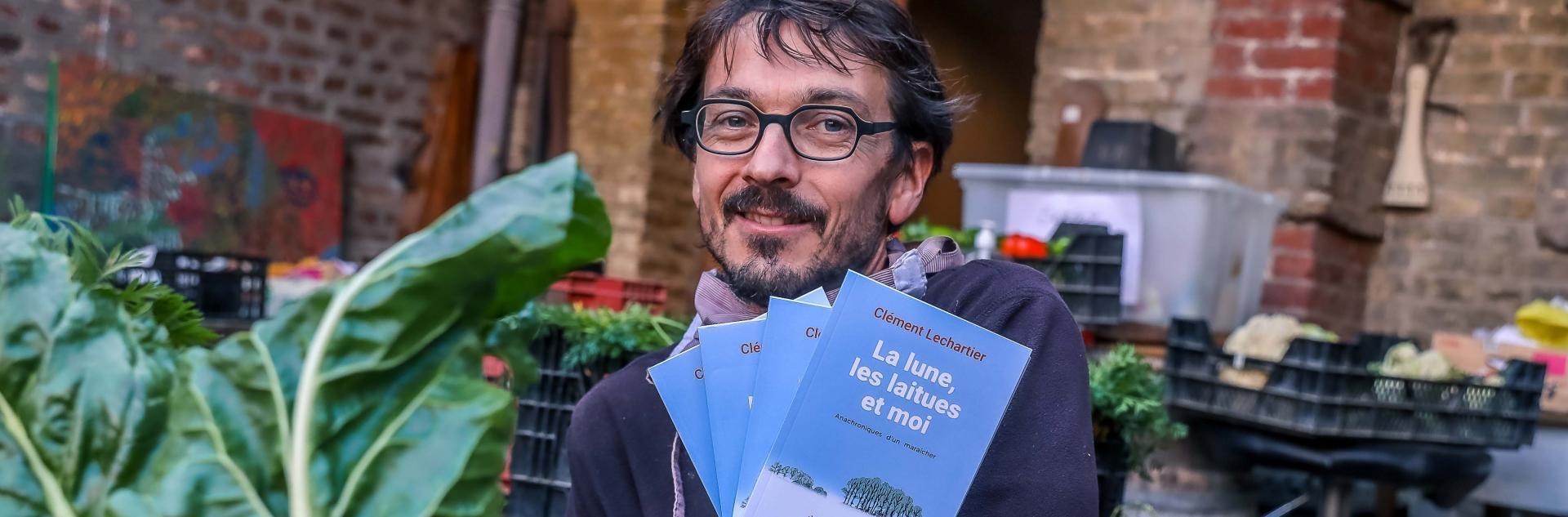 Le maraîcher Clément Lecharlier et son ouvrage