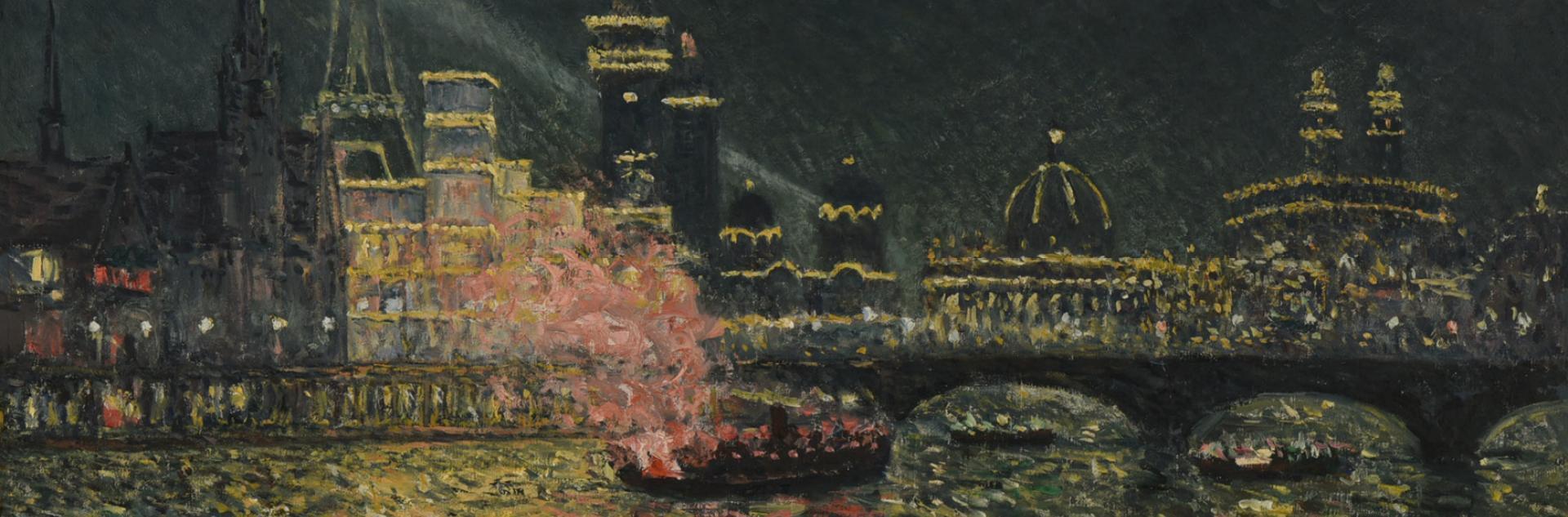 tableau Féérie nocturne de Maxime Maufra