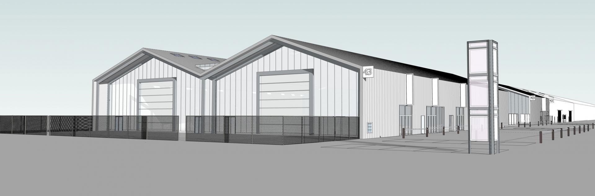 Projet hangars 42 et 43, Parc d'activités nautisme