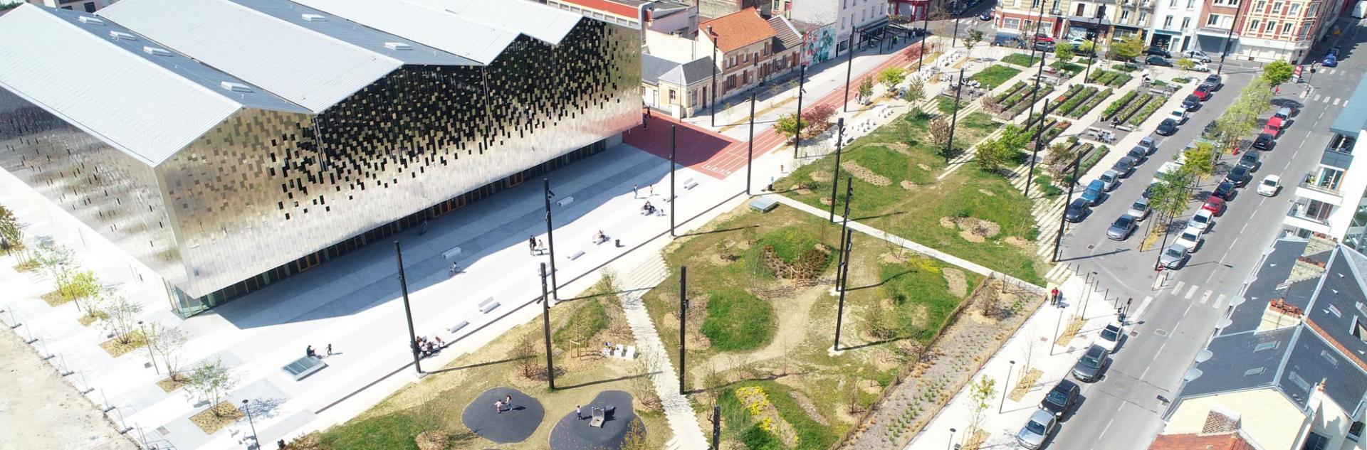 Vue aérienne de la Place Danton, Le Havre