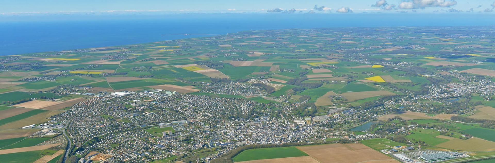 Vue aérienne sur le territoire de la Communauté urbaine