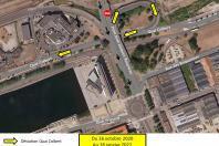 Carte de circulation entre la Rue Rousseau et les Docks - Site Lebon