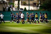 Entrainement de l'équipe de France féminine de football au Havre