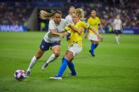 Joueuses de foot lors de la coupe du monde féminine Fifa au Havre