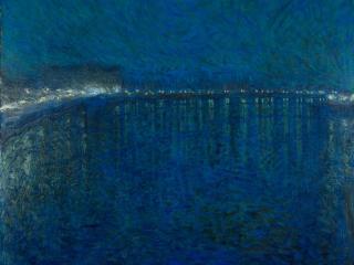 Baie de nuit illuminée