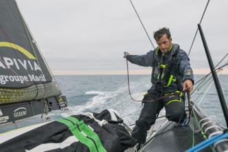 Charlie Dalin (APIVIA), ambassadeur sportif Le Havre Seine Métropole, en route pour le Vendée Globe 2020-2021