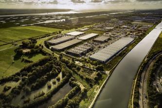 vue aérienne du parc du Hode au Havre