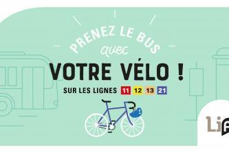 Prenez le bus avec votre vélo !