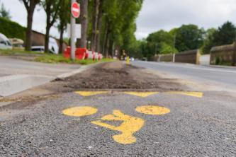 Travaux de pérennisation de la piste cyclable du 329e RI