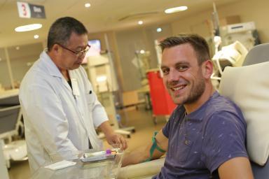 Don du sang, un donneur