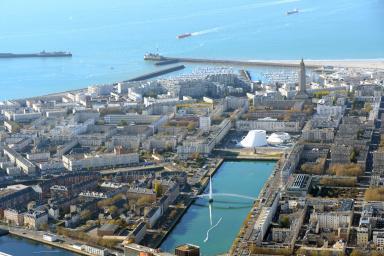 Vue aérienne du centre-ville, Le Havre