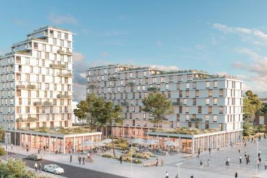 À proximité immédiate de plusieurs établissements d'enseignement supérieur, le projet de la Financière Pichet comportera notamment une résidence étudiante. Il sera achevé au printemps 2023.