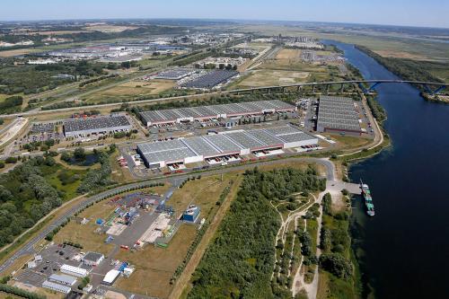 Les parcs logistiques du pont de Normandie