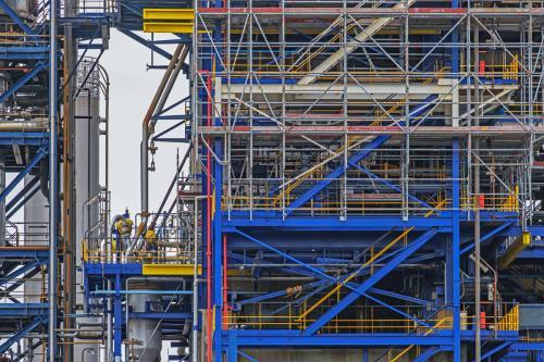 Industrie pétrochimique au Havre