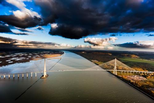 Pont de Normandie, estuaire de la Seine