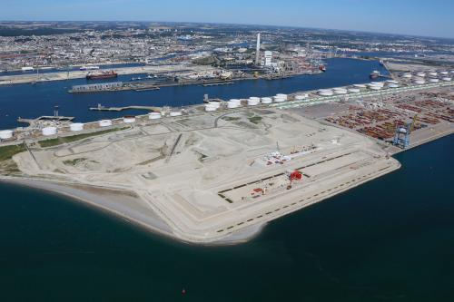 Travaux sur les quais P11 et P12, port du Havre