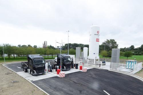 Une nouvelle station au gaz naturel pour les poids lourds