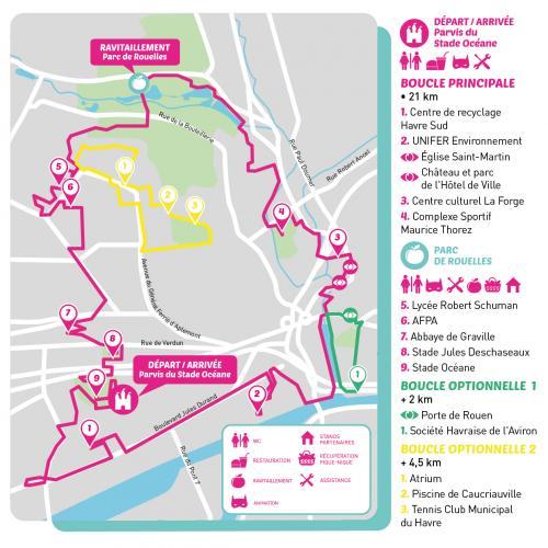 Parcours du Vélotour 2021