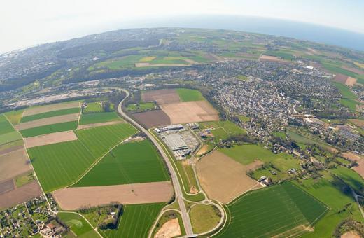 Vue aérienne Le Havre Seine Métropole