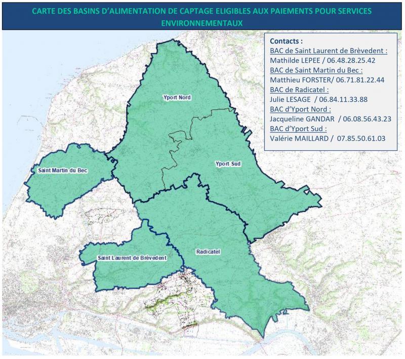 Carte des territoires d'expérimentation des PSE