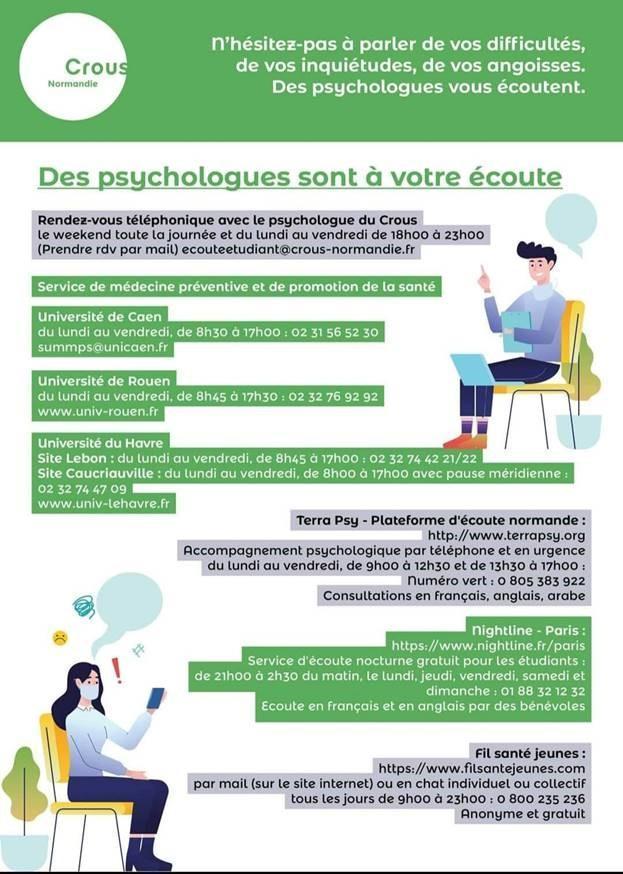 Soutien psychologique pour les étudiants