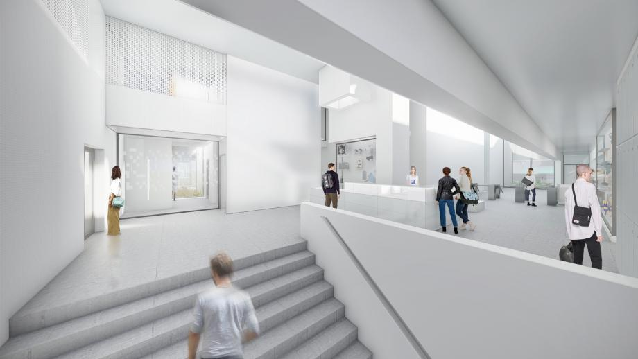 Projet d'aménagement de l'espace d'accueil aux Bains des Docks